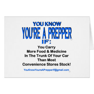 PREPPER 00001 CARD
