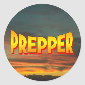 Prepper Classic Round Sticker