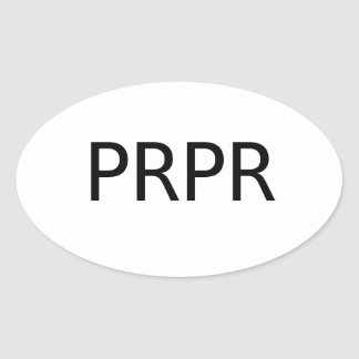 PREPPER Decal Oval Sticker