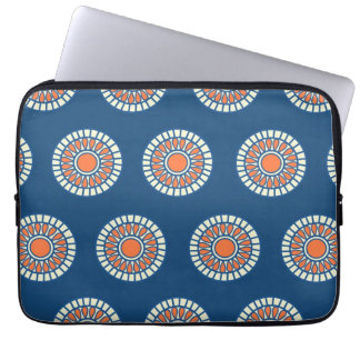 Preppy arabesque polka dot dots tribal pattern laptop sleeves