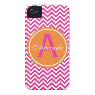 Preppy Chevron in Hot Pink iPhone 4 Case-Mate Cases