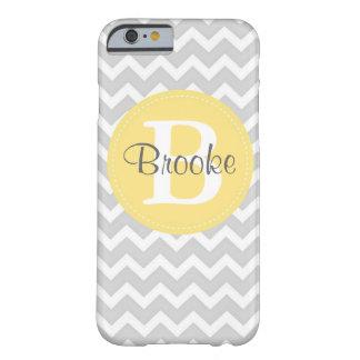 Preppy Chic Chevron Grey and Yellow iPhone 6 case