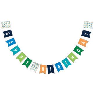 Preppy Dinosaur Silhouette Birthday Banner