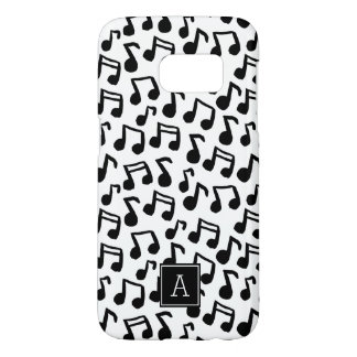 Preppy Doodle Music notes Monogram Personalized Samsung Galaxy S7 Case