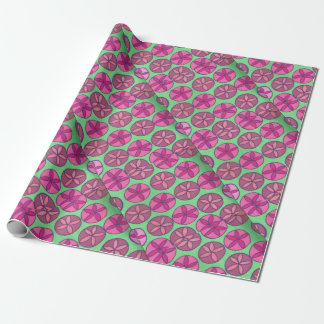 Preppy Floral Print Wrapping Paper
