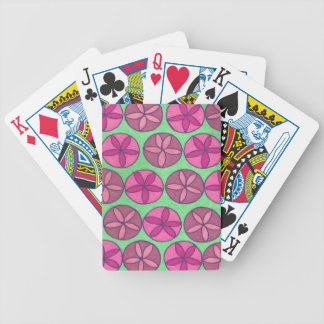 Preppy Flowers Bicycle Playing Cards