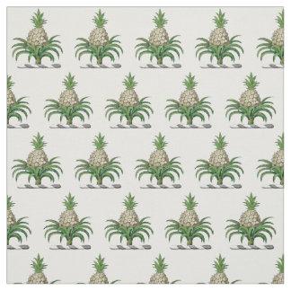 Preppy Heraldic Pineapple Coat of Arms Crest Fabric