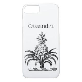 Preppy Heraldic Pineapple Coat of Arms Crest iPhone 8/7 Case