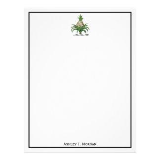 Preppy Heraldic Pineapple Coat of Arms Crest Letterhead