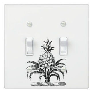 Preppy Heraldic Pineapple Coat of Arms Crest Light Switch Cover