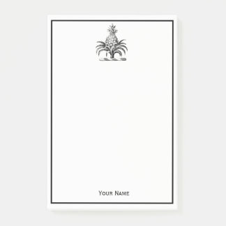 Preppy Heraldic Pineapple Coat of Arms Crest Post-it Notes