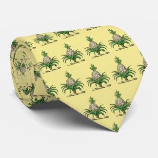Preppy Heraldic Pineapple Coat of Arms Crest Tie