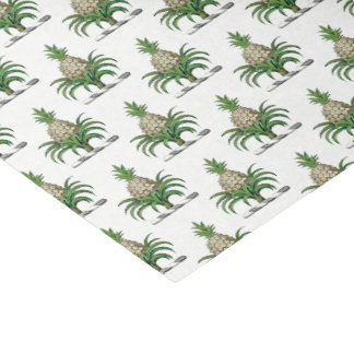 Preppy Heraldic Pineapple Coat of Arms Crest Tissue Paper
