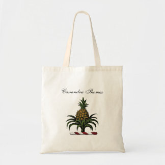 Preppy Heraldic Pineapple Crest Color RWT Tote Bag