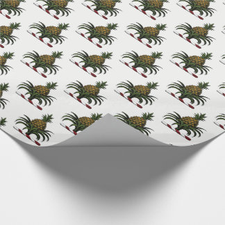 Preppy Heraldic Pineapple Crest Color RWT Wrapping Paper