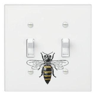 Preppy Heraldic Vintage Bee #2 Coat of Arms C Light Switch Cover