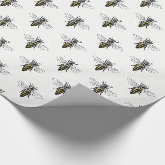 Preppy Heraldic Vintage Bee #2 Coat of Arms C Wrapping Paper