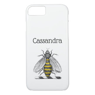 Preppy Heraldic Vintage Bee Coat of Arms Emblem C iPhone 8/7 Case