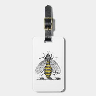 Preppy Heraldic Vintage Bee Coat of Arms Emblem C Luggage Tag