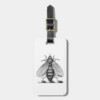 Preppy Heraldic Vintage Bee Coat of Arms Emblem Luggage Tag