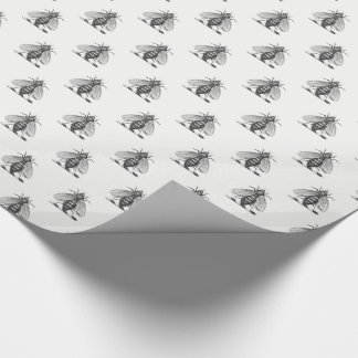 Preppy Heraldic Vintage Bee Coat of Arms Emblem Wrapping Paper
