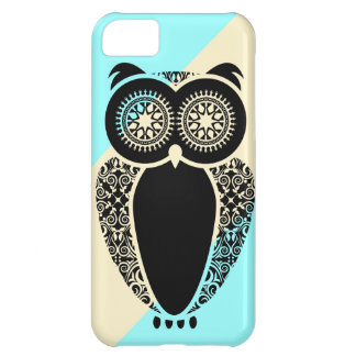 Preppy Ice Stripe Cream Hoot Owl Cover For iPhone 5C