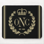 Preppy Monogrammed Logo Mouse Pad
