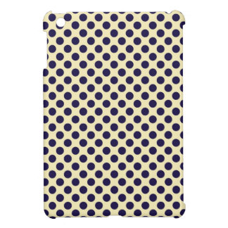 Preppy navy & tan polka dot dots nautical pattern iPad mini cover