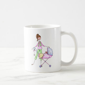 Preppy New Momma with Baby Girl Coffee Mug