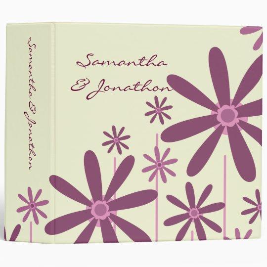 Preppy Pastel Purple Daisy Pinwheel Modern Pattern Binders