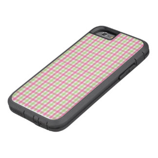 Preppy Pink and Green Plaid Tough Xtreme iPhone 6 Case