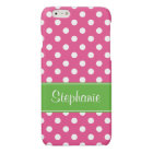 Preppy Pink and Green Polka Dots Personalized