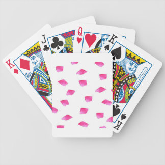 Preppy Pink Brushstroke Stripes Watercolor Bicycle Playing Cards