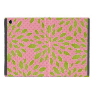 Preppy Pink & Green Bloom Dot Lime Pink Print iPad Mini Case