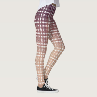 Preppy Pink Plaid Fashion Leggings