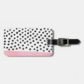 Preppy pink Polka Dot Luggage Tag