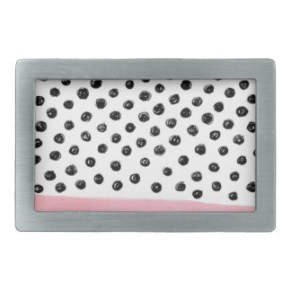 Preppy pink Polka Dot Rectangular Belt Buckles
