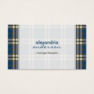 Preppy Plaid Business Card (navy blue)
