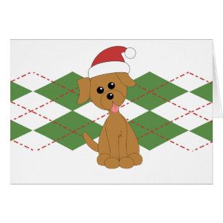 Preppy Puppy Christmas Card