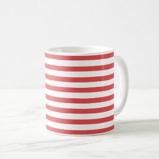 Preppy Red and White Stripes - Mug