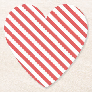 Preppy Red & White Striped Coaster
