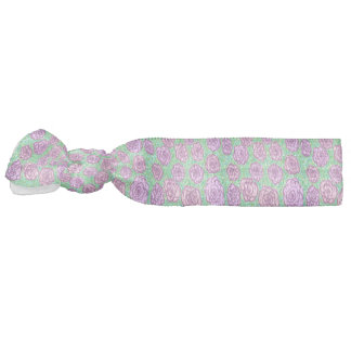 Preppy Rose Garden Floral Print Hair Tie