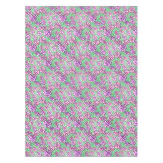 Preppy Rose Garden Floral Print Tablecloth