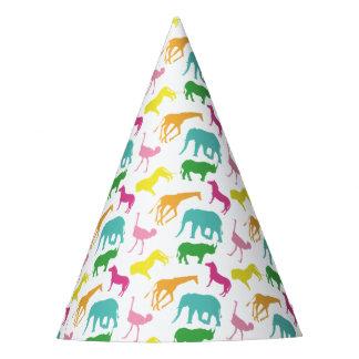 Preppy Safari Animal Girl Birthday Party Hats