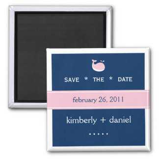 Preppy Save the Date Square Magnet