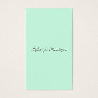 preppy spring color pastel seafoam green mint business card