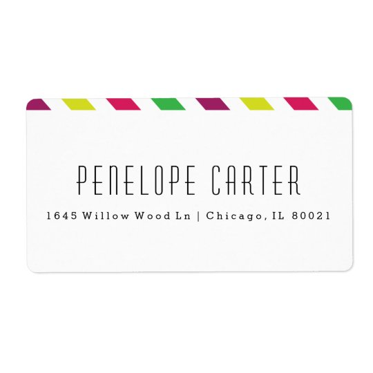 Preppy stripe shipping labels