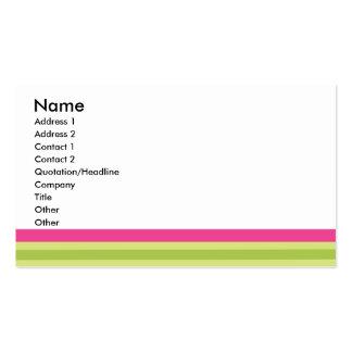 Preppy Stripes Business Card Template