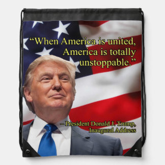 PRES45 AMERICA UNITED DRAWSTRING BAG
