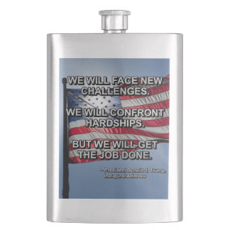 PRES45 FACE CHALLENGES HIP FLASK
